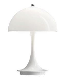 彼女はキレイだった・インテリアホワイトのアンブレラ型テーブルランプ