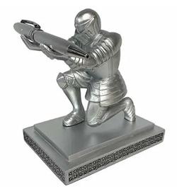 IPサイバー捜査班インテリアシルバーの騎士型ペン立て