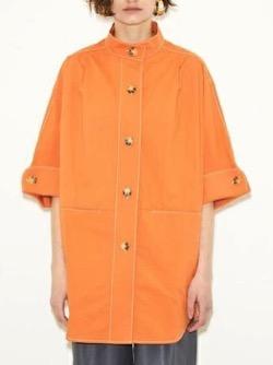ボクの殺意が恋をした・新木優子衣装オレンジのビッグロングシャツ
