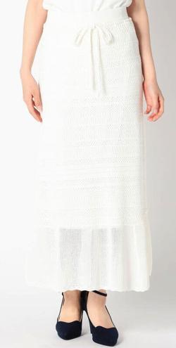 めざましテレビ・きょう何着て行く阿部華也子ホワイトのシアーニットスカート