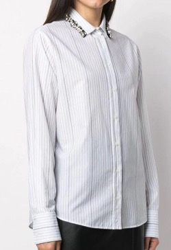 【FNS歌謡祭 2021】椎名林檎さん衣装襟デザインストライプシャツ