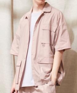 ハコヅメ・三浦翔平・山田裕貴・早瀬圭人ドラマ衣装【早瀬圭人】うすいピンクの半袖シャツ