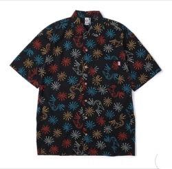 イタイケに恋して【菊池風磨】黒い花柄半袖シャツ