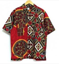 イタイケに恋して【菊池風磨】赤いアフリカン柄プリントシャツ