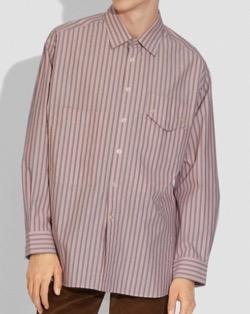 【赤楚衛二】ピンクのストライプシャツ