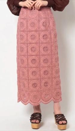彼女はキレイだった(かのきれ)宇垣美里ドラマ衣装ピンクのレースタイトスカート
