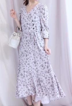 彼女はキレイだった(かのきれ)宇垣美里ドラマ衣装小花柄ワンピース