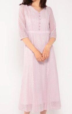 彼女はキレイだった(かのきれ)宇垣美里ドラマ衣装ピンクのワンピース