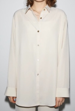 三吉彩花インスタ衣装・ファッション白いシャツブラウス