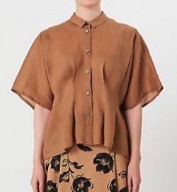 NEWS ZERO・有働由美子衣装ブラウンの半袖シャツ