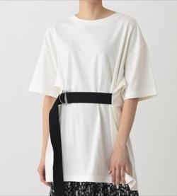 推しの王子様(推しプリ)・白石聖・佐野ひなこ・徳永えり・宮司愛海ドラマ衣装【徳永えり】ウエストベルトの白いTシャツ