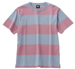 プロミスシンデレラ・眞栄田郷敦衣装ピンクとグレーのボーダーTシャツ