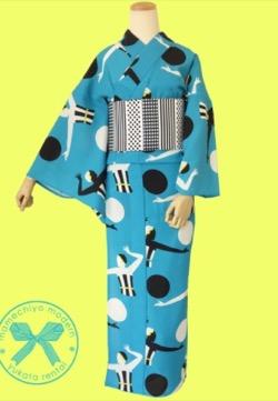 プロミスシンデレラ・三田佳子衣装ブルーの浴衣