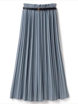 【痴情の接吻】中村ゆりか(柏木和華)ドラマ衣装ブルーのロングスカート
