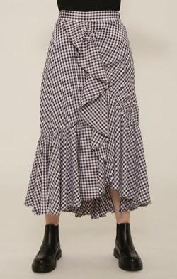 【ゼロイチ】指原莉乃(さっしー)さん衣装ブラウンチェックのフリルスカート
