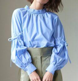 ZIP!水卜麻美 (みとちゃん)衣装ブルーのシャーリングブラウス