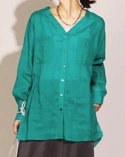 ZIP!水卜麻美 (みとちゃん)衣装グリーンのシャツ