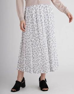 推しの王子様(おしプリ)・ドラマ衣装比嘉愛未ライトブルーのアニマルプリントプリーツスカート