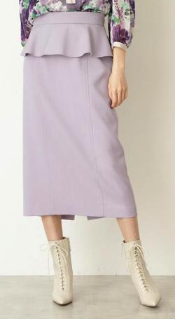 ZIP!・石川みなみ衣装ライトパープルのスカート