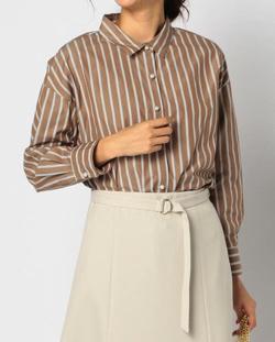 ZIP!水卜麻美 (みとちゃん)衣装ブラウンのパールボタンシャツ