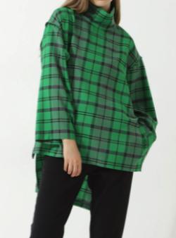 笑ってコラえて佐藤栞里衣装グリーンのチェック柄ブラウス