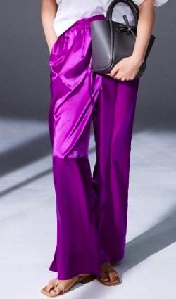 推しの王子様(おしプリ)・ドラマ衣装比嘉愛未ムラサキのサテンギャザーパンツ