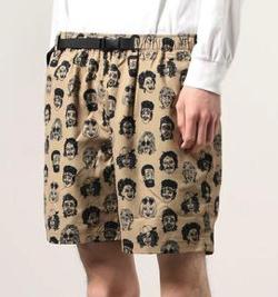 【家族募集します】重岡大毅・仲野太賀ドラマ衣装ベージュの総柄ショートパンツ
