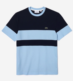 【家族募集します】重岡大毅・仲野太賀ドラマ衣装ネイビーxブルーのカラーブロックのTシャツ