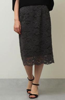 ZIP!水卜麻美 (みとちゃん)衣装ブラックのラッセルレーススカート