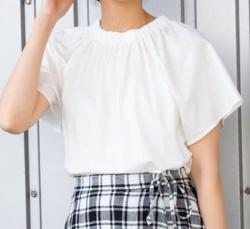 ZIP!水卜麻美 (みとちゃん)衣装ホワイトのカットソー