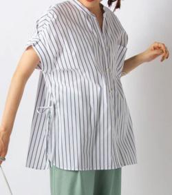 スッキリ・岩田絵里奈衣装ホワイトのボーダーシャツ