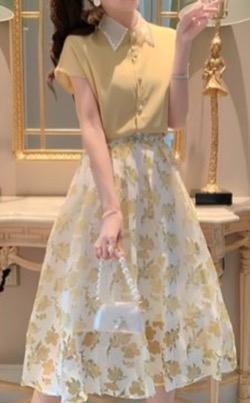 【めざましテレビ】高見侑里アナ衣装イエローの花柄ワンピース
