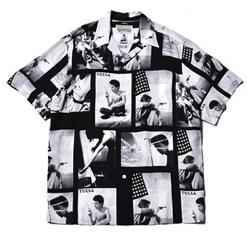 MUSIC BLOOD・田中圭・千葉雄大ブラックのフォトプリントシャツ
