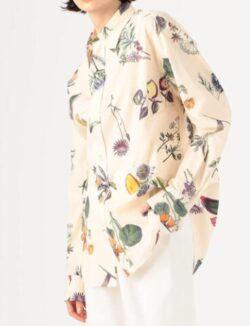 【有吉の壁】佐藤栞里さん衣装フラワープリント柄ブラウス
