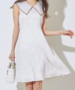 おかえりモネ・恒松祐里(すーちゃん) 衣装ホワイトの小花柄ワンピース