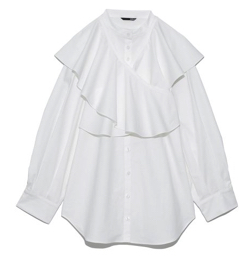 ZIP!・石川みなみ衣装ホワイトのラッフルブラウス