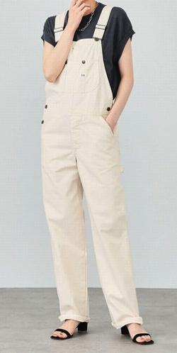 言霊荘・西野七瀬ドラマ衣装アイボリーのサロペット