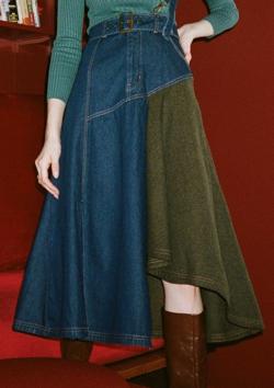 【ゼロイチ】指原莉乃(さっしー)さん衣装ネイビーのデニムスカート