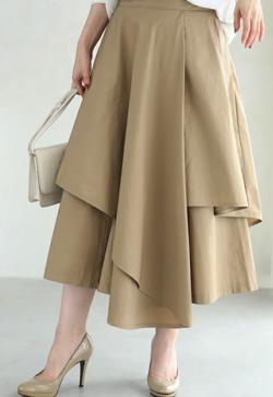 めざましテレビ・高見侑里衣装ライトブラウンのスカート