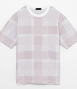 【家族募集します】重岡大毅・仲野太賀ドラマ衣装ライトピンクのチェックパネルTシャツ