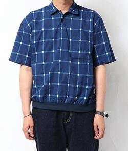 【家族募集します】重岡大毅・仲野太賀ドラマ衣装ブルーのチェック柄ポロシャツ