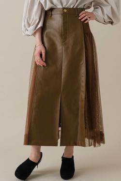 ZIP!水卜麻美 (みとちゃん)衣装ブラウンのレザーxレーススカート