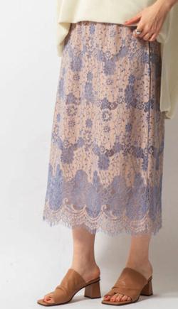 めざましテレビ井上清華衣装ベージュのレースロングスカート