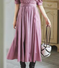 ZIP貴島明日香衣装ピンクのバックリボンフレアスカート