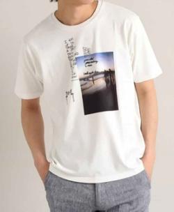 【家族募集します】重岡大毅・仲野太賀ドラマ衣装ホワイトのプリントTシャツ