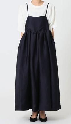 有吉の壁佐藤栞里衣装ネイビーのキャミワンピース