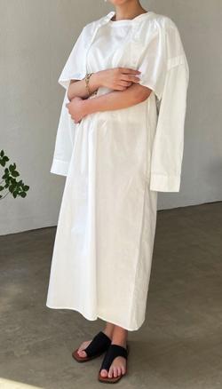 ヒルナンデス!滝菜月ホワイトのシャツワンピース