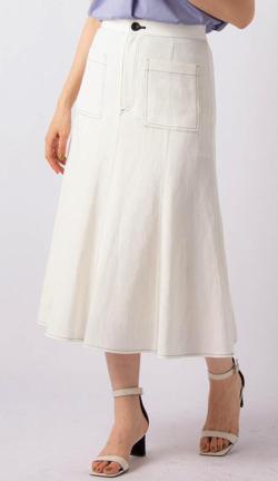 ZIP!水卜麻美 (みとちゃん)衣装ホワイトのステッチスカート