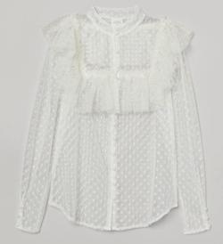 【ゼロイチ】指原莉乃(さっしー)さん衣装ホワイトのシアーチュールブラウス