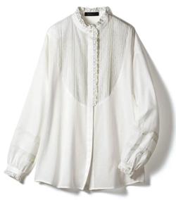 めざましテレビ井上清華衣装ホワイトのレースブラウス